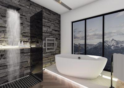 łazienka w górach